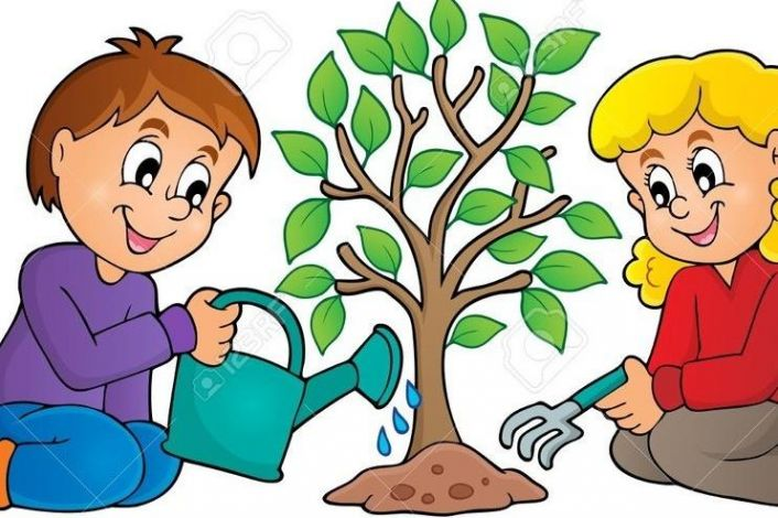 Картинки для детей дети садят деревья